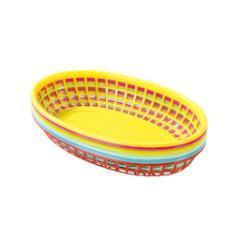 cestas de plástico de colores
