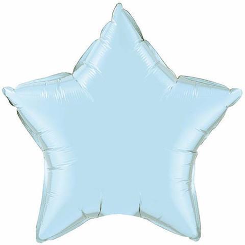 globo azul con forma de estrella helio madrid