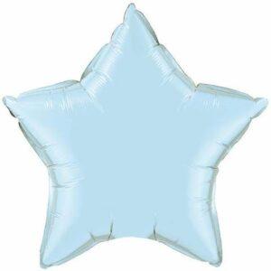 globo con forma de estrella en color azul claro