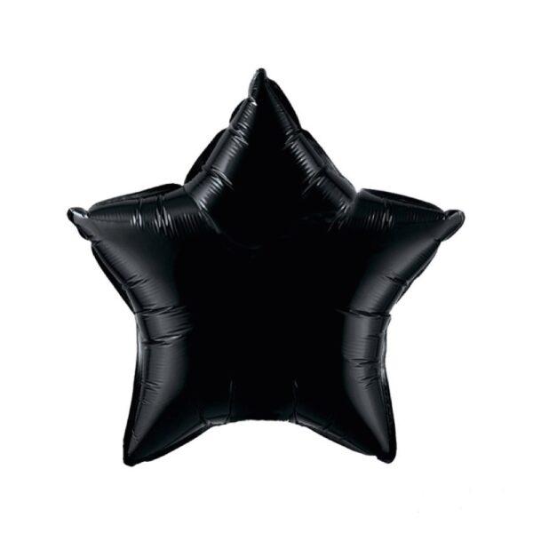 globo estrella pequeña negra