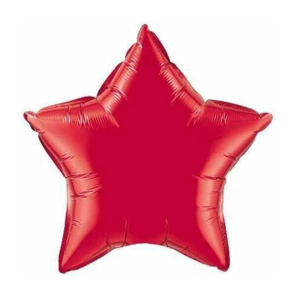 globo de estrella rojo con helio madrid