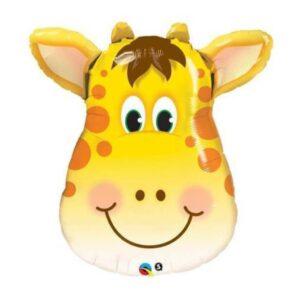 globo de helio con forma de jirafa