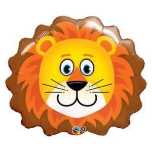 globo de helio con forma de león