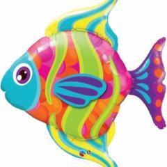 globo grande pez multicolor