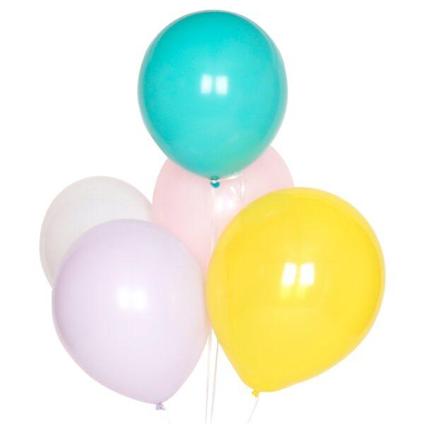 globos lisos en colores pastel para fiestas