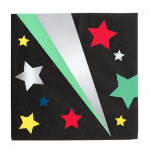 servilletas grandes negras con estrellas