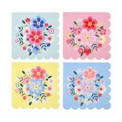 servilletas de papel con flores para fiestas online