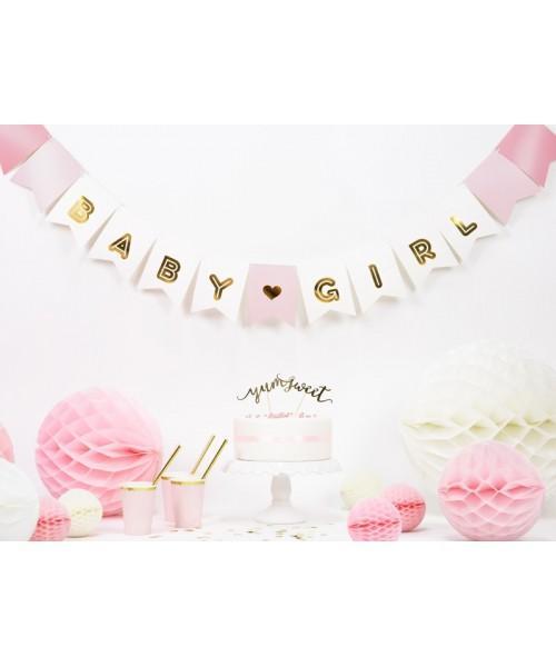 banderín baby girl - decoración baby shower